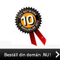 Citynetwork erbjuder domännamn för 10 kr styck och är ett av Sveriges främsta webbhotell.